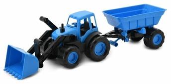Трактор ZEBRATOYS с ковшом и прицепом Active в коробке (15-10173) 59 см