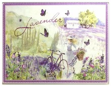 Разделочная доска Gift'n'Home Лавандовый Велосипед CB-Lavender(b) 30х20х0.4 см
