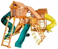 Домик Playgarden Mega SkyFort с двумя игровыми домиками и переходом