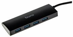 USB-концентратор Buro BU-HUB4-0.5-U3.0, разъемов: 4