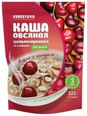 Verestovo Каша овсяная быстрого приготовления со сливками Вишня и миндаль, порционная (6 шт.)