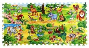 Коврик-пазл Играем вместе Зоопарк с азбукой (FS-ABC-ZOO)