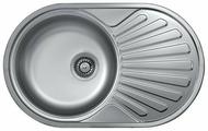 Врезная кухонная мойка Kromevye Rondo EX159 77х48см нержавеющая сталь