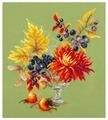 Чудесная Игла Набор для вышивания Осенний букетик 20 x 23 см (100-005)