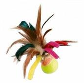 Мячик для кошек GiGwi Cat Toys с перьями (75068)