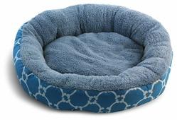 Лежак для собак, для кошек Triol Лазурный берег M круглый 63х63х11 см