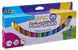 Little Brian Краски по ткани Без воды и кисточек в стиках 12 цветов (LBPS10FA12)