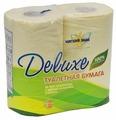 Туалетная бумага Мягкий знак Deluxe двухслойная желтая