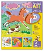 Набор трафаретов Айрис-Пресс АРТ Галерея Быстроногие лошадки
