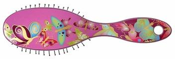 Clarette Щетка для волос компакт с ультра тонкой нейлоновой щетиной CLK 458 Kids