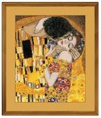 Риолис Набор для вышивания крестом Поцелуй (по мотивам картины Г. Климта) 30 х 35 см (1170)