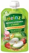 Пюре Heinz яблоко, клубника и злаки (с 6 месяцев) 90 г, 1 шт.