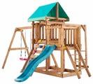 Домик Babygarden с балконом, рукоходом, скалолазкой и горкой 1.8 м