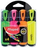 Maped Набор текстовыделителей Fluo Peps, 4 шт. (742547)
