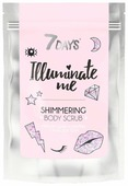 7 DAYS Мерцающий кофейный скраб для тела Illuminate me