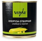 Кукуруза отборная сладкая в зернах Vegda жестяная банка 340 г