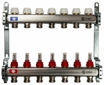 """Коллекторная группа STOUT (SMS 0917 000007) 1"""" ВР, 7 отводов 3/4"""", расходомер"""