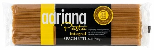 ADRIANA Макароны Pasta Integral Spaghetti 11 цельнозерновые, 500 г