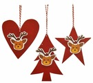 Школа талантов Набор для творчества Создай ёлочное украшение Новогодние олени (4304407)