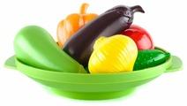 Набор продуктов с посудой Пластмастер Овощное ассорти 21016