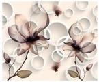 Фотообои флизелиновые Design Studio 3D Абстрактные магнолии 3х2.5м