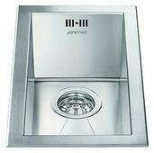 Врезная кухонная мойка smeg VQ20 26.7х46.4см нержавеющая сталь