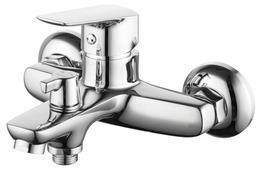 Однорычажный смеситель для ванны с душем IDDIS Vibe VIBSB02I02WA