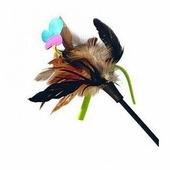 Дразнилка для кошек GiGwi Cat Toys на стеке с бабочкой и перьями (75242)