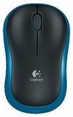 Мышь Logitech Wireless Mouse M185 Blue-Black USB