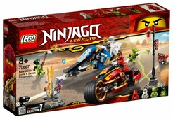 Конструктор LEGO Ninjago 70667 Мотоцикл-клинок Кая и снегоход Зейна