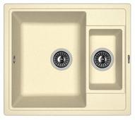 Врезная кухонная мойка FLORENTINA Липси-580К 58х51см искусственный гранит