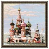 Риолис Набор для вышивания крестом Москва. Собор Василия блаженного 40 x 40 (1260)