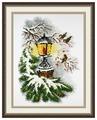 Овен Цветной Вышивка крестом Волшебный фонарь 20 х 30 см (867)