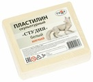Пластилин ГАММА Студия мягкий белый 500 г (2.80.Е050.004.1)