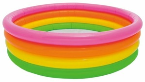 Детский бассейн Intex Sunset Glow Four Ring 56441
