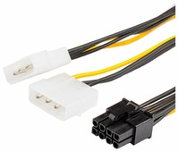 Кабель Atcom PCI-E 8-pin - 2 x 3-pin Molex (AT8604) 0.15 м
