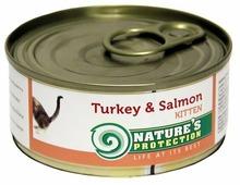 Nature's Protection Корм для кошек Nature s Protection Консервы Kitten Turkey & Salmon