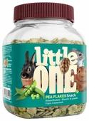 Лакомство для кроликов, грызунов Little One Snack Pea flakes
