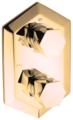 Смеситель для ванны Cisal Cherie CE01910024+ZA01910004 двухрычажный с термостатом встраиваемый золото