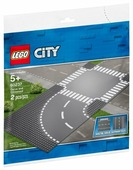 Дополнительные детали LEGO City 60237 Поворот и перекрёсток