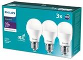Упаковка светодиодных ламп 3 шт Philips Essential LED 3CT 4000К, E27, A55, 9Вт