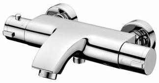 Термостатический двухрычажный смеситель для ванны с душем IDDIS Thermolife THESB02i74WA