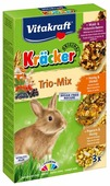 Лакомство для кроликов Vitakraft Крекеры Trio-Mix Лесные ягоды и бузина/ Мед и спельта/ Попкорн и мед