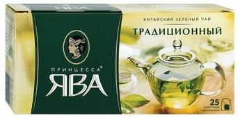 Чай зеленый Принцесса Ява Традиционный в пакетиках
