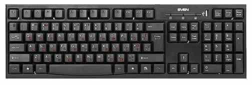 Клавиатура SVEN Standard 304 USB+HUB Black USB