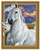 Molly Набор алмазной вышивки Белый рысак (KM0160) 40х50 см