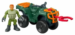 Фигурка Imaginext Jurassic World ATV Квадроцикл и техник FMX94