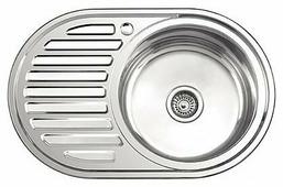 Врезная кухонная мойка Ledeme L67750-R 77х50см нержавеющая сталь