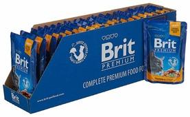 Корм для кошек Brit Premium беззерновой, с лососем, с форелью 100 г (кусочки в соусе)