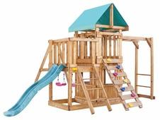 Домик Babygarden с балконом, закрытым домиком, рукоходом, скалолазкой и горкой 1.8 м